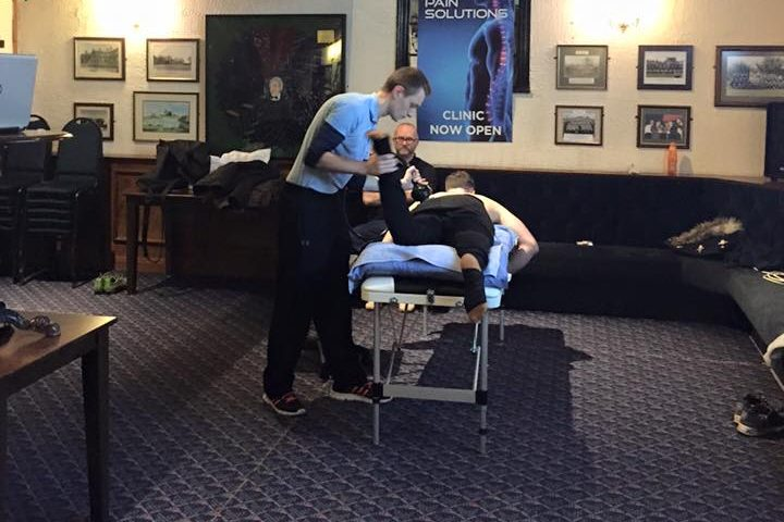 recent massage therapy in warrington - image shows our portable massage table being utilised