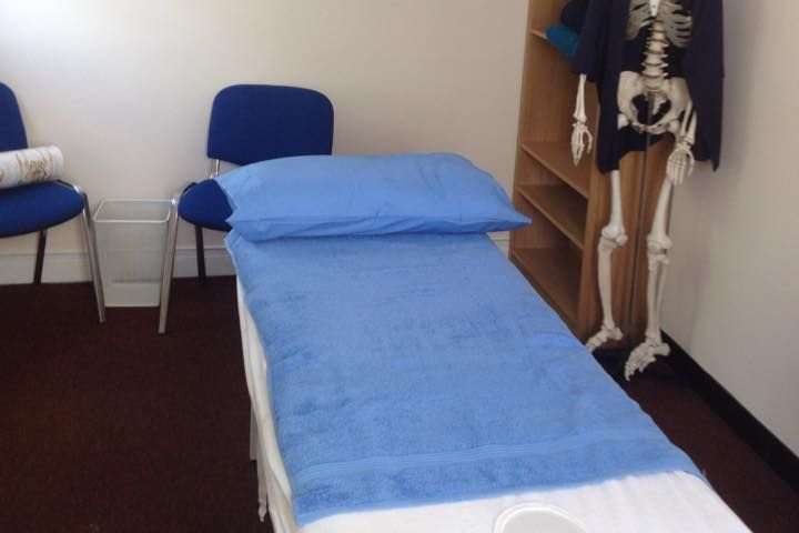 massage table made up ready for the next client