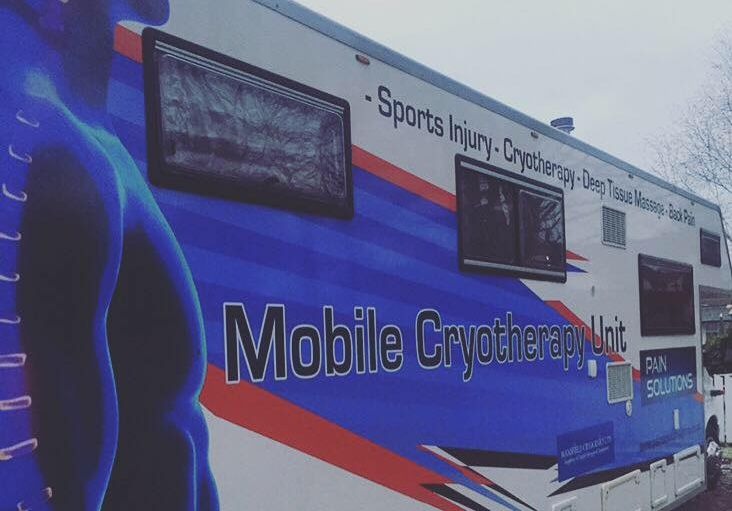 our new mobile unit for cryotherapy in warrington